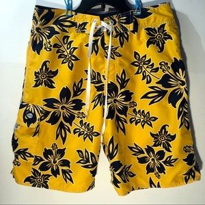 Kirra Men's Yellow / Blue Swim Trunks